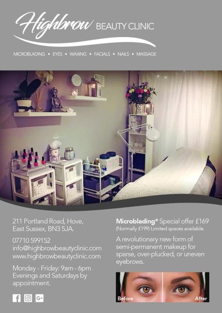Highbrow Beauty Clinic Treatment List A5 PRESS
